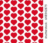 pattern background heart icon | Shutterstock .eps vector #648542875