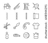 garment vector line icon set.... | Shutterstock .eps vector #648544291
