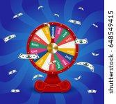 fate wheel  3d roulette vector...   Shutterstock .eps vector #648549415