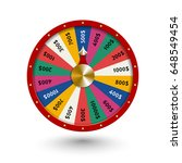 fate wheel   roulette vector... | Shutterstock .eps vector #648549454