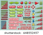 set of pixel elements for... | Shutterstock .eps vector #648552457