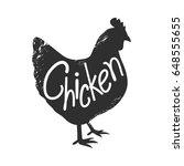 graphic chicken  vector | Shutterstock .eps vector #648555655
