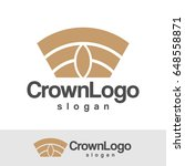 crown logo | Shutterstock .eps vector #648558871