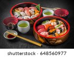 delicious sushi in tokyo style | Shutterstock . vector #648560977