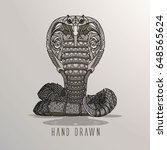1 patterned cobra on background....   Shutterstock .eps vector #648565624