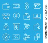 pay icons set. set of 16 pay... | Shutterstock .eps vector #648565951