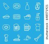 foam icons set. set of 16 foam... | Shutterstock .eps vector #648571921