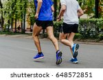 blind runner athlete in action... | Shutterstock . vector #648572851
