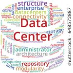 data center word cloud text... | Shutterstock .eps vector #648572887
