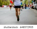 back male runner running... | Shutterstock . vector #648572905