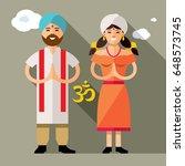 vector india family concept.... | Shutterstock .eps vector #648573745