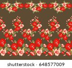 floral seamless border of small ... | Shutterstock .eps vector #648577009