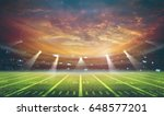 american football stadium 3d... | Shutterstock . vector #648577201