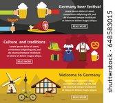 germany travel banner... | Shutterstock .eps vector #648583015