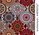 patchwork pattern. vintage... | Shutterstock .eps vector #648583267
