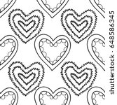decorative hearts. black and... | Shutterstock .eps vector #648586345
