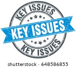 key issues round grunge ribbon... | Shutterstock .eps vector #648586855