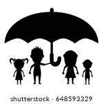 dolls family protected black... | Shutterstock .eps vector #648593329