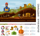professional cavers infographic ... | Shutterstock .eps vector #648596461