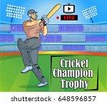 illustration of batsman and...   Shutterstock .eps vector #648596857