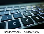 close up of a laptop keyboard | Shutterstock . vector #648597547