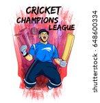 illustration of batsman and...   Shutterstock .eps vector #648600334