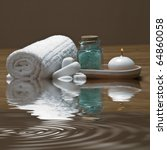 spa background with bath salts  ... | Shutterstock . vector #64860058