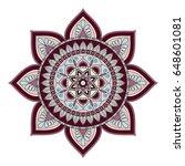 flower mandalas. vintage...   Shutterstock .eps vector #648601081