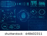 hud security user interface... | Shutterstock .eps vector #648602311