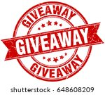 giveaway round grunge ribbon... | Shutterstock .eps vector #648608209