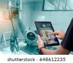 smart industry control concept... | Shutterstock . vector #648612235