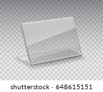 acrylic table tent  card holder ... | Shutterstock .eps vector #648615151