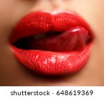 close up of sensual erotic red... | Shutterstock . vector #648619369