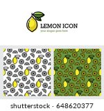 bright yellow lemon icon and... | Shutterstock .eps vector #648620377