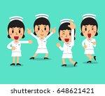 cartoon female nurse character... | Shutterstock .eps vector #648621421