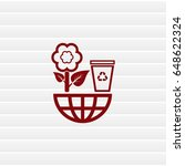 throw away the trash icon ... | Shutterstock .eps vector #648622324