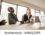 attractive african american... | Shutterstock . vector #648622399