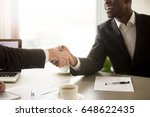close up view of handshake... | Shutterstock . vector #648622435