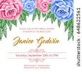bridal shower invitation... | Shutterstock .eps vector #648622561