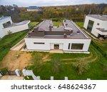 modern country houses under...   Shutterstock . vector #648624367
