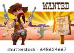 wild west landscape with cool... | Shutterstock .eps vector #648624667