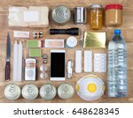 objects useful in emergency... | Shutterstock . vector #648628345