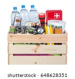 objects useful in emergency... | Shutterstock . vector #648628351