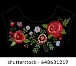 embroidery native neckline... | Shutterstock .eps vector #648631219