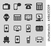display icons set. set of 16...   Shutterstock .eps vector #648635209