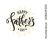 happy fathers day greeting.... | Shutterstock .eps vector #648639205