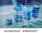 charts of financial instruments ... | Shutterstock . vector #648643237