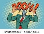 boom  head exploded light bulb... | Shutterstock .eps vector #648645811