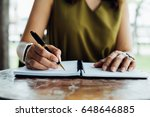 writing check planning... | Shutterstock . vector #648646885