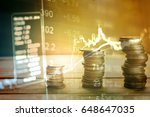 charts of financial instruments ... | Shutterstock . vector #648647035